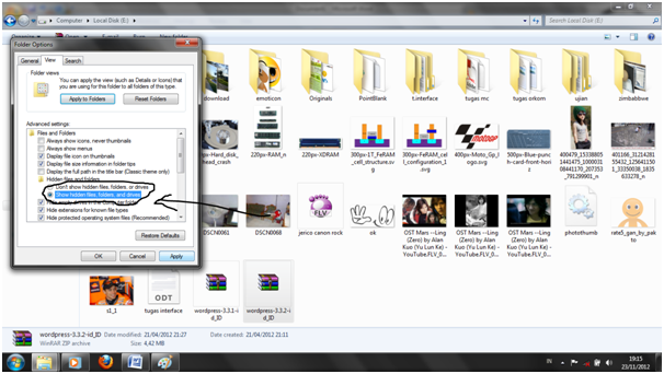 hidden file pada windows