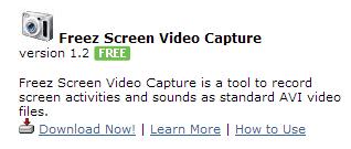 freez screen video capture